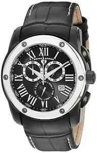 【送料無料】腕時計 ウォッチ スイストラベラーアラームクロノグラフブラックレザーusado swiss legend traveler reloj crongrafo cuero negro sl10005bb01sb