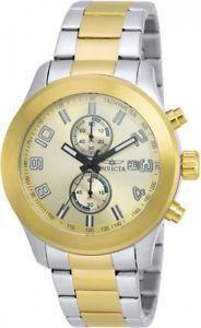 【送料無料】腕時計 ウォッチ クォーツクロノメートルトーンステンレススチールウォッチinvicta hombre specialty quartz chrono 100m dos tonos reloj acero inoxidable