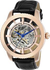 【送料無料】腕時計 ウォッチ オブジェアートローズゴールドフィールドアラームinvicta hombres objet d arte automtico 3 mano rosa oro esfera reloj 23639