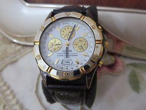 【送料無料】腕時計 ウォッチ クロノグラフクロノヴィンテージアラームorologio lorus cronografo vintage chrono watch montre reloj originale