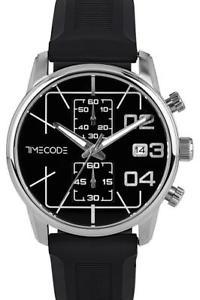 【送料無料】腕時計 ウォッチ ブラックラバーストラップアラームクロノグラフタイムコードボイジャーreloj crongrafo timecode voyager para hombre con correa de caucho negro