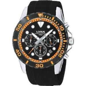 【送料無料】腕時計 ウォッチ ナイツゴムクロノグラフアラームlorus caballeros negro de goma crongrafo reloj de hombre rt367bx9