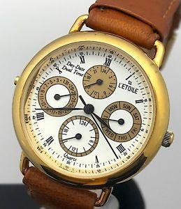 【送料無料】腕時計 ウォッチ アメリカライムデュアルタイムnos nuevo l´etoile cal 4p40 watch vintage daydate dual time 33 mm mag2