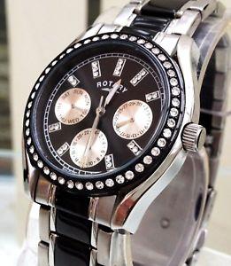 【送料無料】腕時計 ウォッチ ヶボックス¥nuevo reloj para dama giratorio negro da y fecha amp; meses wr 50 m rrp 180 en caja