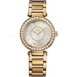 【送料無料】腕時計 ウォッチ ジューシークチュールアラームボックスjuicy couture luxe couture reloj 1901151 chapado en oro cristales de 150nuevo en caja