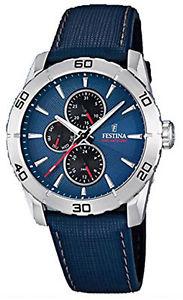 【送料無料】腕時計 ウォッチ アラームreloj hombre festina men f166076 de cuero azul