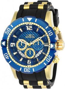 【送料無料】腕時計 ウォッチ プロダイバーストップウォッチポリウレタンスチールinvicta hombres pro diver cronmetro 200m color dorado s acero poliuretano