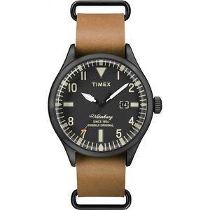 【送料無料】腕時計 ウォッチ レザーストラップトーストウォーターベリーアラームヘリテージpatrimonio timex para hombre correa de cuero tostado waterbury reloj tw2p64700