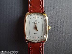 【送料無料】腕時計 ウォッチ ミッシェルフランスブレスレットマロンファムレディーウォッチmichel herbelin france montre bracelet cuir marron pl or femme lady woman watch