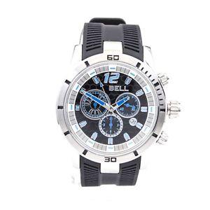 【送料無料】腕時計 ウォッチ ベルラバーストラップクロノグラフbell relojes caballeros correa de caucho negro reloj con cronografofecha pvp 149