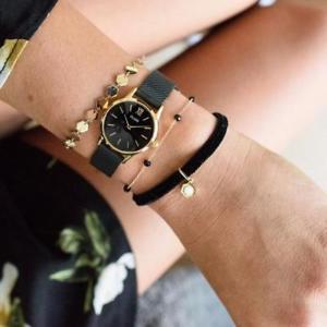 【送料無料】腕時計 ウォッチ ラメッシュフルブラックゴールドヌオーヴォ