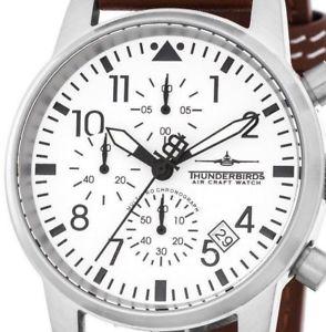 腕時計 ウォッチ パイロットクロノグラフアラームthunderbirds multipro aviador crongrafo fecha cuero piloto reloj hombre tb106706