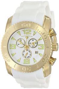 腕時計 ウォッチ ゴムベルトゴールデンホワイトクオーツスチールケーススイスswiss legend para hombre correa goma blanco dorado estuche de acero cuarzo reloj 10067yg02