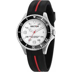 腕時計 ウォッチ セクターシリコンリリースorologio sector 230 r3251161040 watch silicone nero uomo gomma wr 100m data
