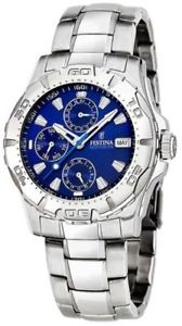 【送料無料】腕時計 ウォッチ アラームマルチファンクションnuevo anuncio reloj festina f16242a azul multifuncion por hombre acero brazelate