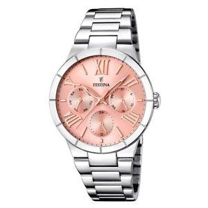【送料無料】腕時計 ウォッチ マドモアゼルステンレススチールピンクfestina mujer mademoiselle f167163 reloj acero inoxidable pulido esfera rosa