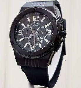 【送料無料】腕時計 ウォッチ ロータリークロノグラフブラックマンボックスreloj rotary de hombre negro crongrafo rrp 250 nuevo en caja original