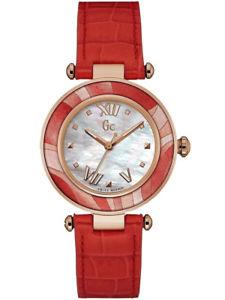 腕時計 ウォッチ コレクションレディシックguess collection reloj relojes fantastico y12006l1 gc lady chic reloj de pulsera de cuero nuevo