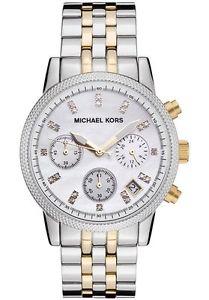 【送料無料】腕時計 ウォッチ トーンレディースミハエルパールクロックutiliza dos tonos seoras michael kors mk5057 madre de perla reloj 1 mes de edad
