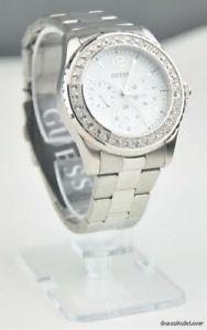 【送料無料】腕時計 ウォッチ レディーススタイリッシュシルバーステンレススチールnuevo elegante reloj 100 original guess plata acero inoxidable para damas mujeres