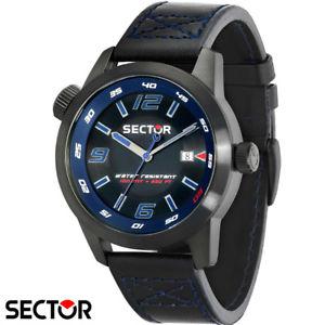 【送料無料】腕時計 ウォッチ セクターナイツsector r3251102020 reloj pulsera caballeros 48mm cuero negro nuevo