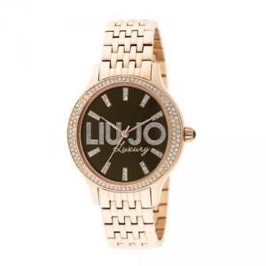 【送料無料】腕時計 ウォッチ ラグジュアリーリュジョドナスワロフスキーorologio donna liu jo luxury giselle tlj773 acciaio ros marrone swarovski