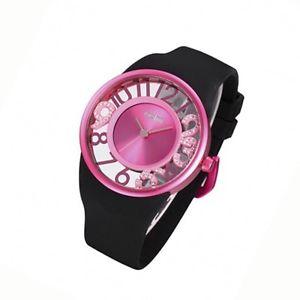 【送料無料】腕時計 ウォッチ アラームスワロフスキーブレスレットシリコンベルトodm reloj skycolor prpura cuarzo swarovski correa de silicona pulsera mujer