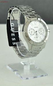 腕時計 ウォッチ スタイリッシュクロッククラシックレディースブラックレザーnuevo y elegante 100 original reloj guess cuero negro clsico seoras w11142l1