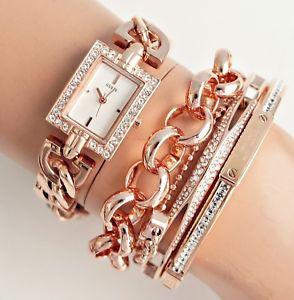 【送料無料】腕時計 ウォッチ アラームプリンスステンレススチールゴールデンピンクguess reloj mujer w0540l3 prince acero inox rosa dorado nuevo