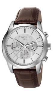 【送料無料】腕時計 ウォッチ アラームリレーブラウンアナログクロノグラフブラウンレザーesprit reloj hombre relay brown es106841003 analogico chronograph cuero marrn