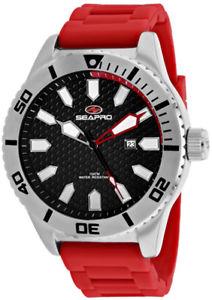 【送料無料】腕時計 ウォッチ ステンレススチールレッドシリコンseapro hombre brigade cuarzo 100m acero inoxidablerojo reloj de silicona sp1311