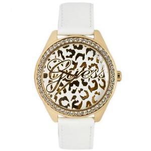 【送料無料】腕時計 ウォッチ ペレビアンコゴールドスワロフスキーorologio donna guess w0401l1 pelle bianco gold dorato maculato swarovski