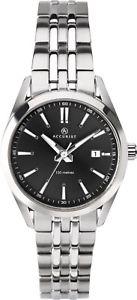 腕時計 ウォッチ フィールドシルバーステンレススチールウォッチaccurist mujer en negro esfera plata reloj de acero inoxidable 8223