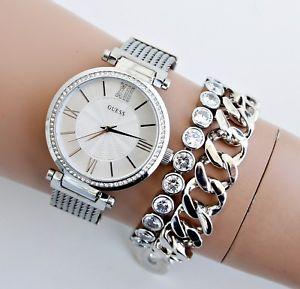 【送料無料】腕時計 ウォッチ アラームステンレスシルバーguess reloj fantastico w0638l1 soho acero inoxidable plata nuevo