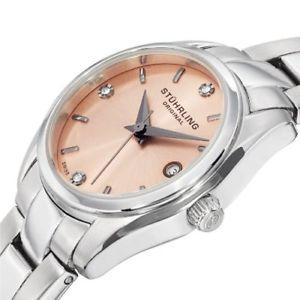 腕時計 ウォッチ クラシックアスコットプライムアラームステンレススチールsthurling 414l 02 mujer clsico ascot prime reloj de acero inoxidable