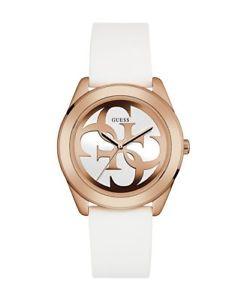 【送料無料】腕時計 ウォッチ アラームピンクシリコンステンレススチールホワイトguess reloj w0911l5 acero inoxidable rosa silicona blanco nuevo