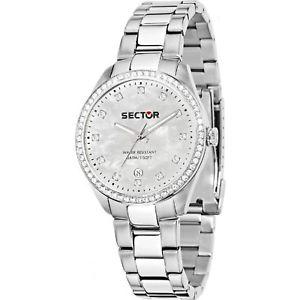 【送料無料】腕時計 ウォッチ セクタドナパールミリorologio sector 120 r3253588515 donna watch acciaio madreperla 36mm zirconi