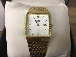 【送料無料】腕時計 ウォッチ ナイツブレスレットメッキロータリー¥caballeros pulsera de reloj rotary chapado en oro gb00846 pvp 135