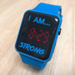 【送料無料】腕時計 ウォッチ リードi am azul fuerte rectngular hombre moderno rojo led reloj de cuarzo horas ~