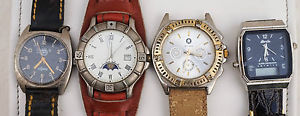 【送料無料】腕時計 ウォッチ スペアパーツpour pices lot de 4 montres a quartz reparation spare parts