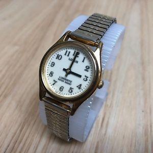 【送料無料】腕時計 ウォッチ ビンテージアナログvintage lorus lumibrite v821 mujer color dorado analogico reloj de cuarzo horas