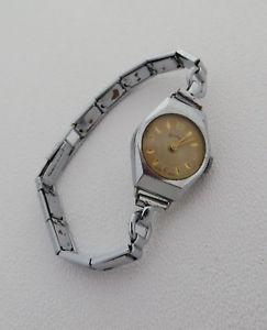 【送料無料】腕時計 ウォッチ ビンテージサービスシルバーvintage seminuevo reloj de servicios hecho en suizacorrea de tono plata chapado roto