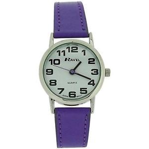 【送料無料】腕時計 ウォッチ ラヴェルレディースタイミングベルトバックルアラームravel seoraspara mujer esfera blanca amp; purple pu hebilla correa de reloj r01051317 l