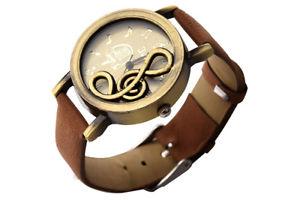 【送料無料】腕時計 ウォッチ クォーツムーブメントレトロクロック5xnuevo retro reloj de movimiento de cuarzo de esfera de nota musical con r e1