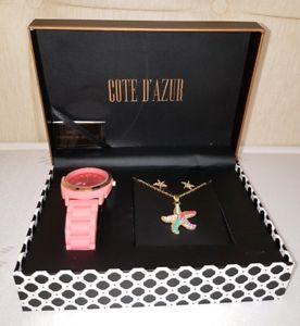 【送料無料】腕時計 ウォッチ アラームシールバラreloj collar y pendientesconjunto de regaloacabado rosa de las seorasnuevo y sellado