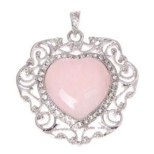 【送料無料】腕時計 ウォッチ ネックレスアカウントローズ5xpendiente de cuarzo rosado de corazon amuleto de cuenta para collar modaq6g9