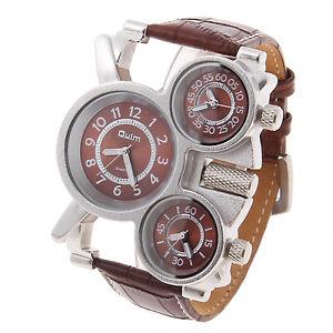 【送料無料】腕時計 ウォッチ クロックマンブラウンスチールトリプルスケジュールクォーツメンズスポーツmarrn reloj hombre triple uso horario acero cuero cuarzo mens sport wrist watch