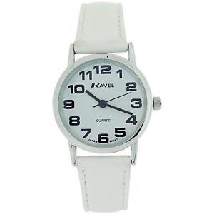 【送料無料】腕時計 ウォッチ ラヴェルレディースタイミングベルトバックルアラームravel seoraspara mujer esfera blanca amp; blanco pu hebilla correa de reloj r0105134 l