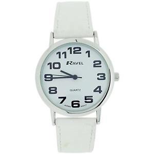 【送料無料】腕時計 ウォッチ ラヴェルレディースジャンボタイミングベルトバックルアラームravel seoras jumbo esfera blanca amp; blanco pu hebilla correa de reloj r0105134