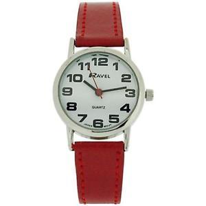 【送料無料】腕時計 ウォッチ ラヴェルレディースタイミングベルトバックルアラームravel seoraspara mujer esfera blanca y rojo pu hebilla correa de reloj r0105102